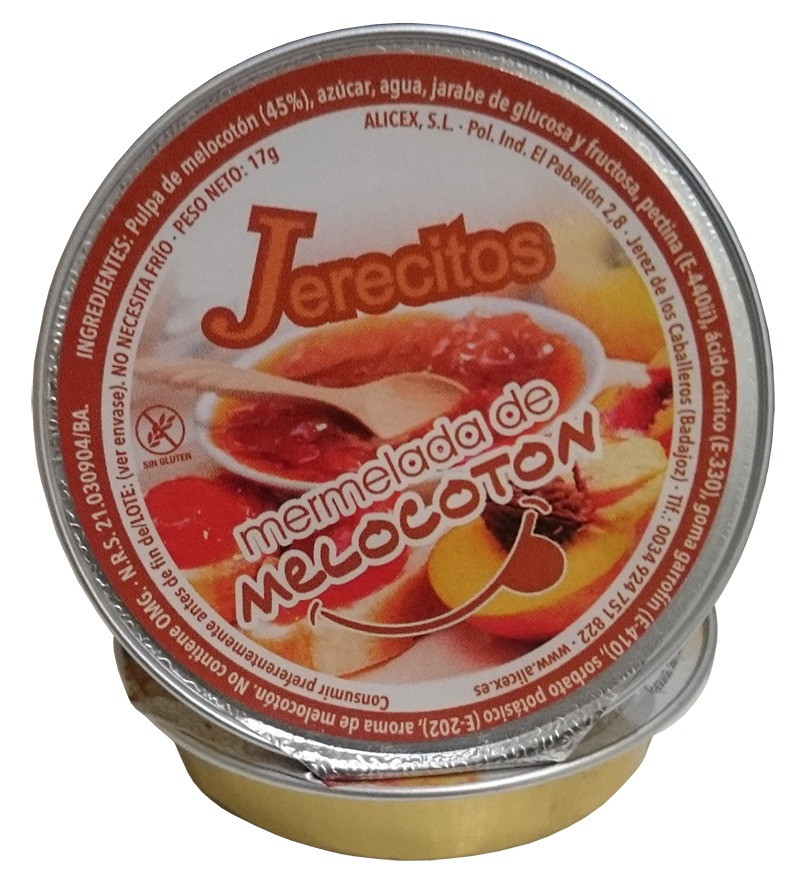 monodosis mermelada melocoton jerecitos