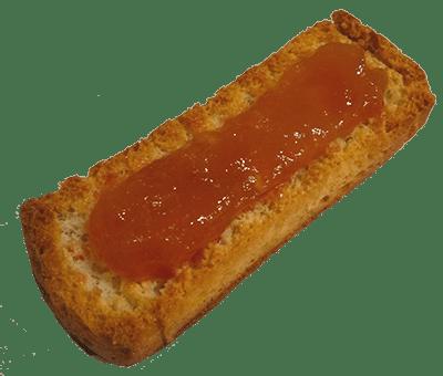 tostada melocoton jerecitos