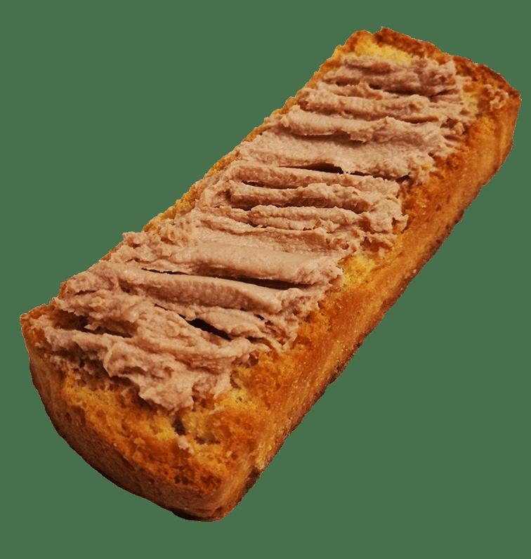 Tostada con paté de higado de cerdo Jerecitos.