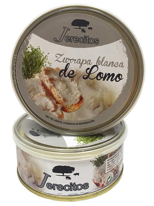 zurrapa blanca de lomo jerecitos lata 250g